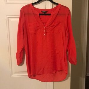 Express Tangerine/Orange Blouse